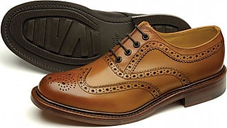 Loake Mens Edward Premium Country Brogue Shoe in Burnished Tan Calf Leather (8 UK