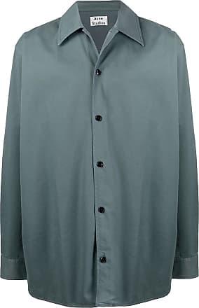 Acne Studios boxy fit twill shirt - Blue
