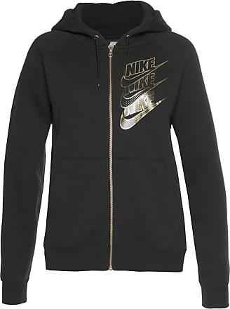 Nike Sweatjacke gold / schwarz