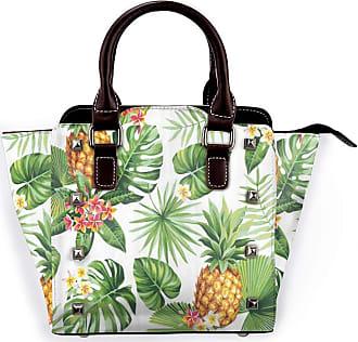 Browncin Pineapple Palm Leaves Topical Fruit Plants Flowers Monstera Leaf Detachable Fashion Trend Ladies Handbag Shoulder Bag Messenger Bags