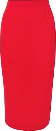 Roland Mouret Arreton Wool-crepe Skirt - Red
