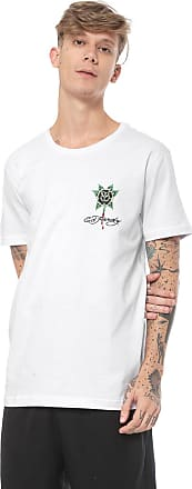 Ed Hardy Camiseta Ed Hardy Black Rose Bleeding Branca