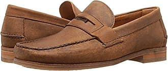 a7be6a0053 Sebago Mens Conrad Penny Loafer Tan Crackled Leather 7 M US