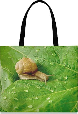 XiangHeFu Holder Pencil Case High Quality Bag Snail And Water Drops On Green Leaves Big Zipper Pocket Pouch