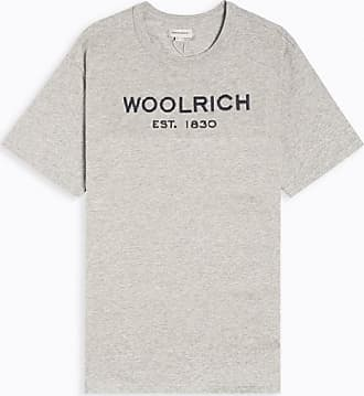 Woolrich Europäische Sommerzeit. 1830 Logo Tee Grau Melange - M