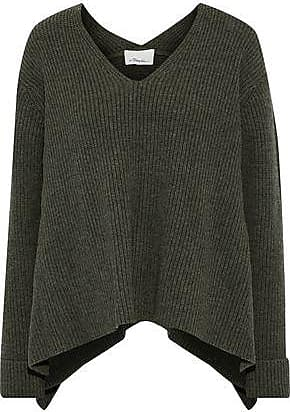 c8115190c25469 3.1 Phillip Lim 3.1 Phillip Lim Woman Ribbed Wool And Yak-blend Sweater  Army Green