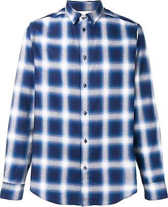Natural Selection Camisa xadrez Slate - Azul