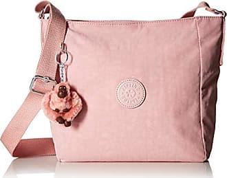 Kipling Austin Crossbody Bag, Adjustable Strap, Zip Closure, Strawberry Pink