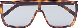 Saint Laurent Eyewear Óculos de sol com efeito tartaruga - Verde