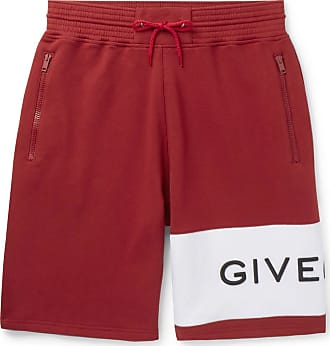 Givenchy Logo-embroidered Loopback Cotton-jersey Drawstring Shorts - Red