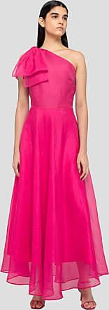 Msgm one-shoulder dress in silk