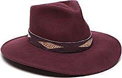 ále by Alessandra Womens Cobra Adjustable Felt Hat with Suede Trim, Bordeaux, Adjustable Head Size