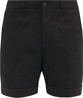 Ami Ami - Turn-up Cuff Cotton-twill Bermuda Shorts - Mens - Black