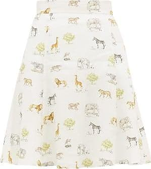 Emilia Wickstead Iris Safari-print Linen Mini Skirt - Womens - Cream Print