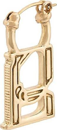 Ellery Par de brincos com pingente Alphabet - Dourado