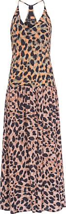 FYI Vestido Longo Onça Pincelada - Animal Print