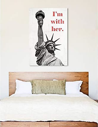 The Oliver Gal Artist Co. The Oliver Gal Artist Co. Typography and Quotes Wall Art Canvas Prints Statue of Liberty Home Décor, 40 x 60, Gray, Pink