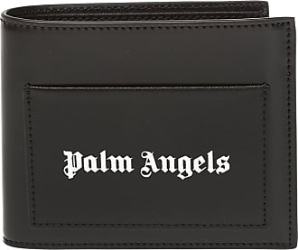 Palm Angels Leather Wallet With Logo Mens Black