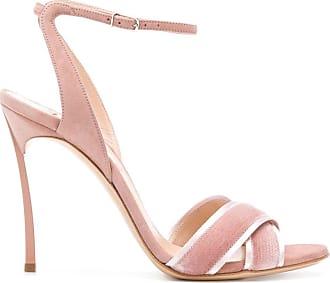 Casadei crossover strap sandals - PINK