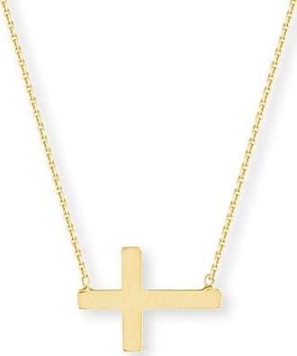 Zales Sideways Cross Necklace in 14K Gold