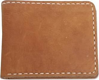 Novica Mens leather wallet, Natural Balance