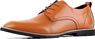 iLoveSIA Mens Oxford Fashion Leather Shoes Brown UK Size 6.5 (US7.5)