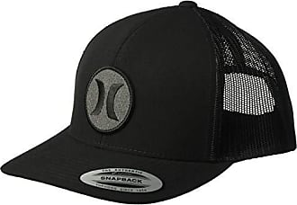 Hurley Mens Black Textures Patch Trucker Baseball Cap, Ripstop, One Size