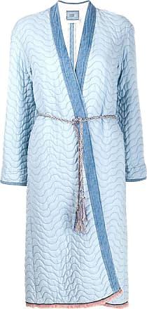 Forte_Forte padded tie waist coat - Blue