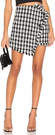 J.O.A. Tweed Mini Skirt in Black