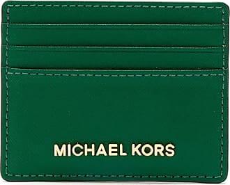 Michael Michael Kors Porta-cartões de couro - Verde