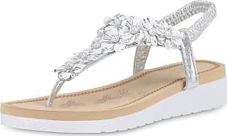 Scarpe Vita Women High-Heeled Sandals Beach Sandals Metallic Decorative Pearls 190500 Silver Metallic UK 5 EU 38