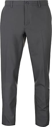 Slazenger Mens Performance Golf Trousers Pants Bottoms Lightweight Zip Slim Fit Charcoal 34W 33L