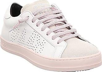 P448 Damen Schuhe Low Sneakers E8JOHNF von P448 Farbe Weiß Rosa Neue  Kollektion Frühjahr Sommer Made e278779147