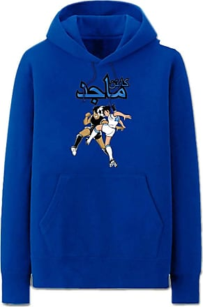 Haililais Captain Tsubasa Pullover Unisex Hoodie Casual Long Sleeve Pullover Couple Comfy Loose Sweatshirt with Pockets Unisex (Color : Blue01, Size : Height-18