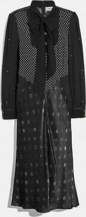 Coach Mixed Dot Bow Neck Dress in Black - Size 02