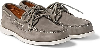 Quoddy Downeast Nubuck Boat Shoes - Gray