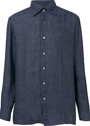 Canali Camisa com colarinho pontiagudo - Azul