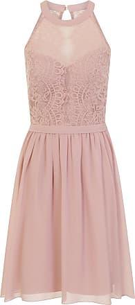Little Mistress Womens/Ladies Eyelash Lace Midi Prom Dress (14) (Mink)