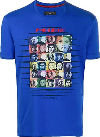 Frankie Morello Camiseta slim Rock Bizarre - Azul