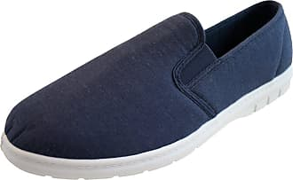 Northwest Territory Mens Lightweight Slip On Navy Canvas Cotton Summer Beach Casual Shoes Plimsoles Size 11 UK (EU 45)