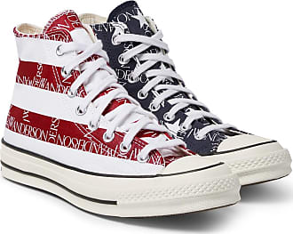 Converse + Jw Anderson 1970s Chuck Taylor All Star Logo-print Canvas High-top Sneakers - Navy