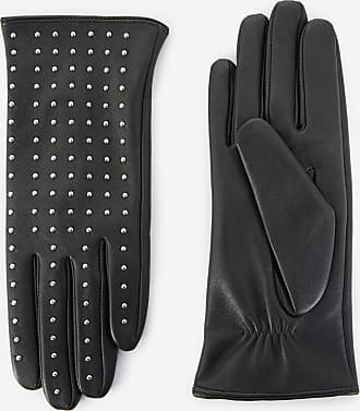 The Kooples Studded black leather gloves - WOMEN