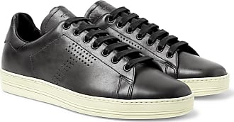 Tom Ford Warwick Perforated Leather Sneakers - Dark gray