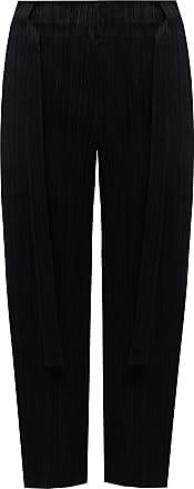 Issey Miyake Pleated Trousers Womens Black