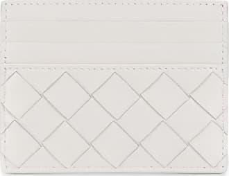 Bottega Veneta Porta-cartões de couro com padronagem trançada - Branco