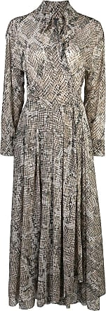 Norma Kamali Chemise Scale com estampa de píton - Cinza