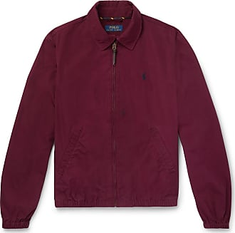 Polo Ralph Lauren Cotton Blouson Jacket - Burgundy