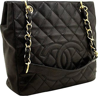 47d42bdd5880 CHANEL BOUTIQUE Chanel Caviar Chain Black Quilted Shoulder Bag Shopping Tote