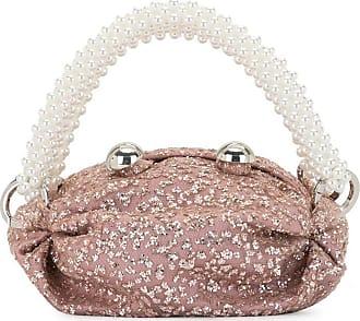 0711 Nino sparkly bronze tiny tote bag - PINK
