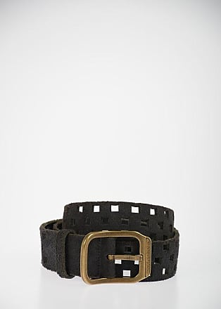 Dolce & Gabbana Vintage Effect Suede Belt 35mm Größe 95